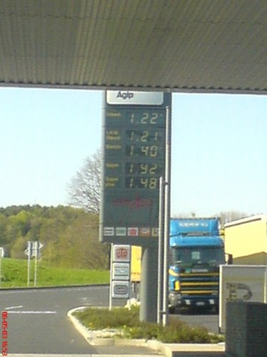 Somewhere on the Autobahn - Shitass expensive gasoline