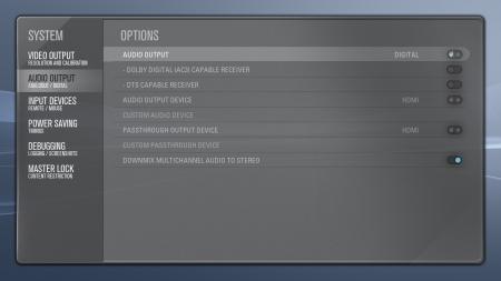 XBMC Audio Output Settings