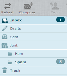 RoundCube: Adjusted Inbox View