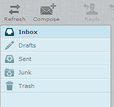 RoundCube: Inbox view